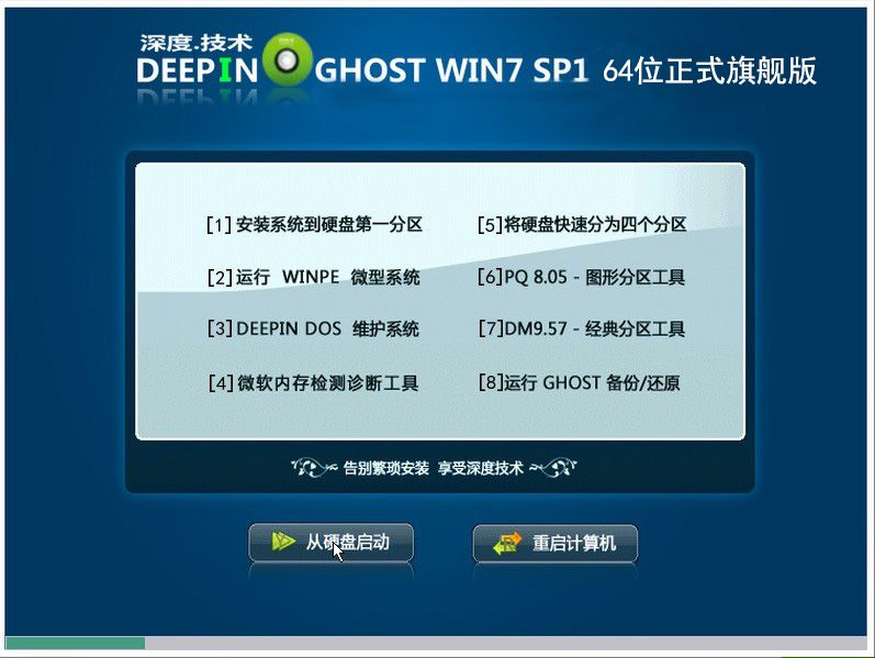 深度技术Ghost Win7 sp1 x64位正式旗舰版(64位)v2015