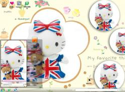 hello kitty win7系统主题
